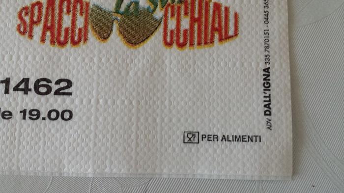 Tovagliette di carta personalizzate certificate per - Alimenti per andare in bagno ...