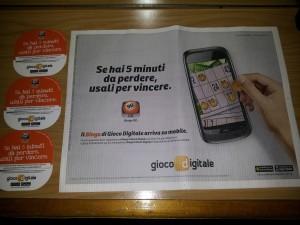 Tovaglietta pubblicitaria Roma