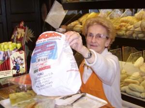 sacchetto pane pubblicizzato