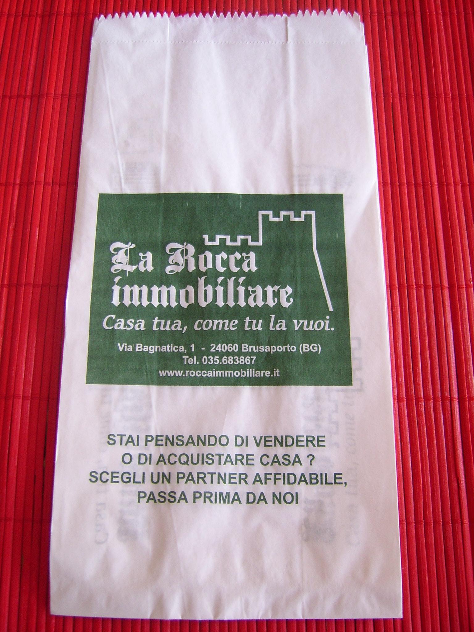sacchetto pane personalizzato kraft bianco