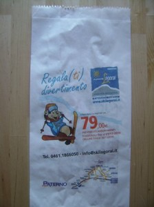 Sacchetto pane pubblicitario Lagorai