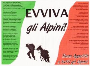 Alpini Tovaglietta  festa