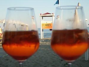 aperitivo spritz tovagliette mare spiaggia
