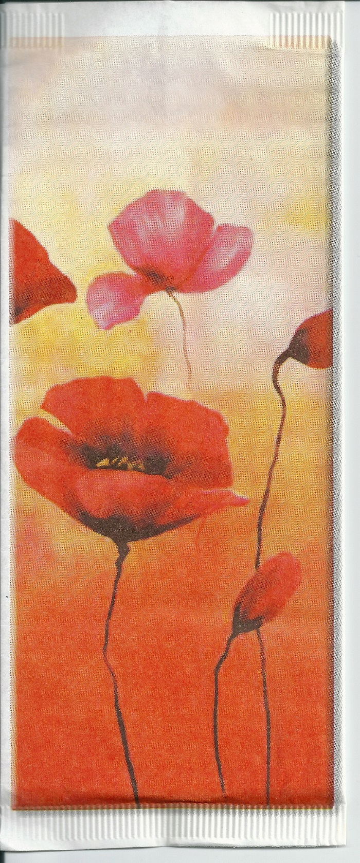 paper cutlery pockets poppy with 2 white plies