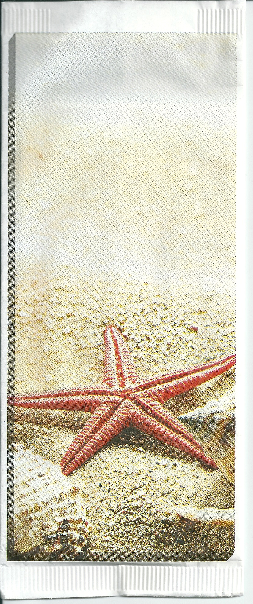 paper cutlery pockets sea star with 2 white plies