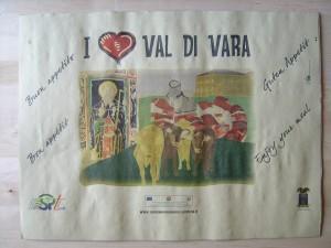 Val di Vara tovaglietta personalizzata