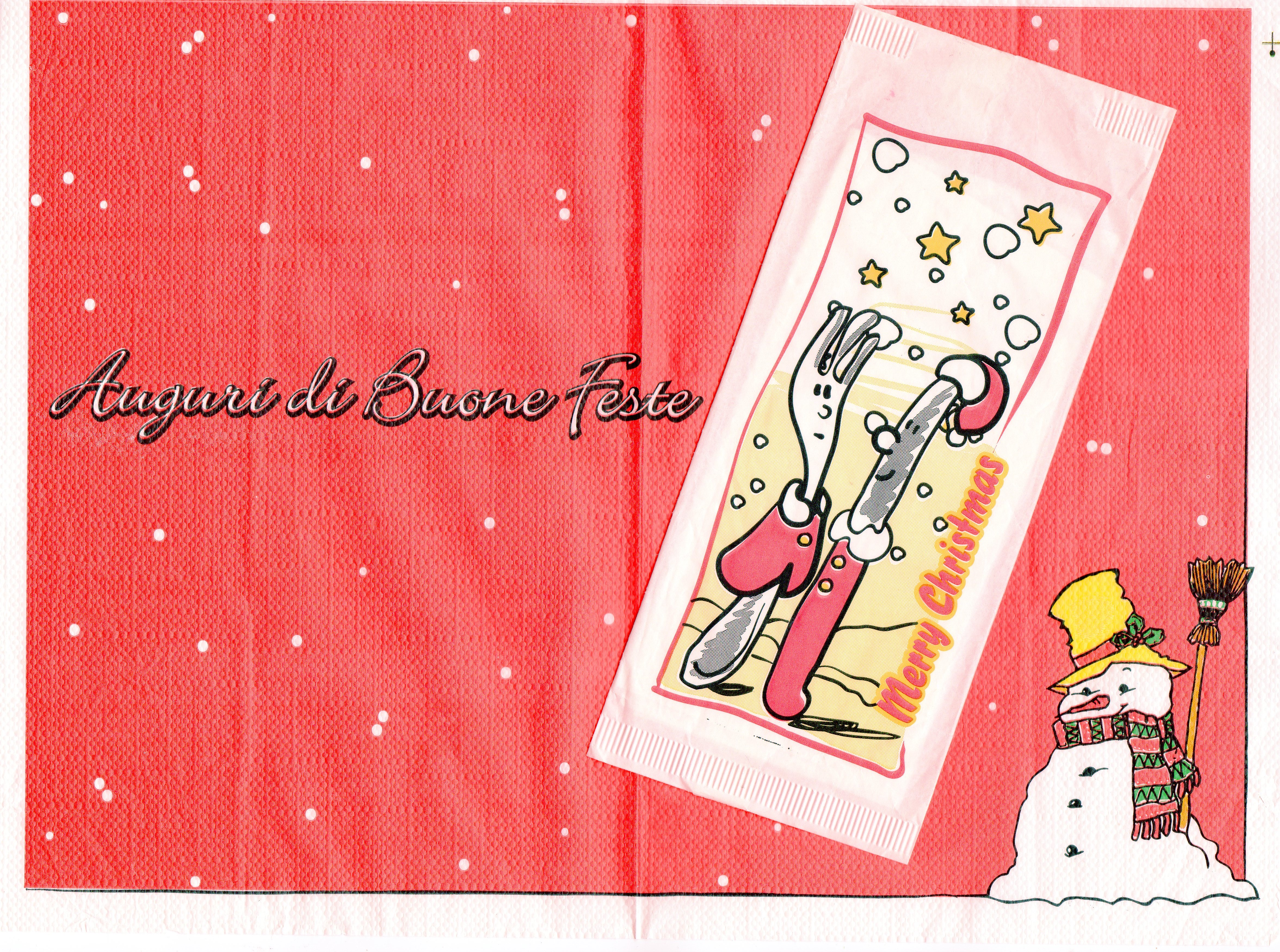 paper placemats with cutlery pockets Tovaglietta portacoperto in abbinato Merry Chistmas