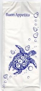 Portacoperto tartaruga con tovagliolo interno 2 veli