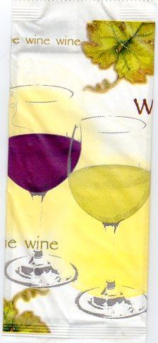 wine porta posate carta kraft con tovagliolo interno bianco