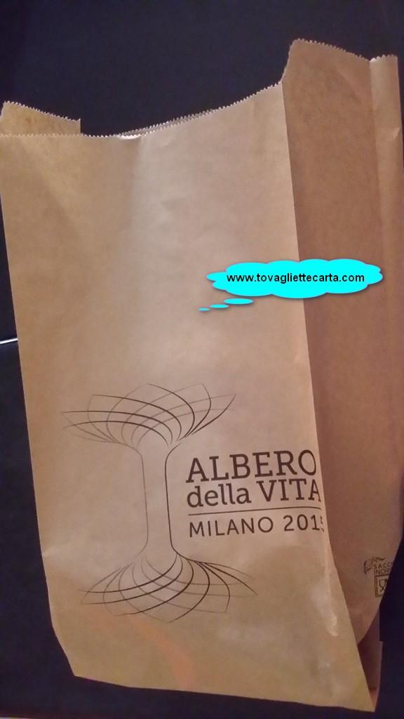 albero vita expo 2015 sacchetto busta del pane personalizata inchiostri certificati per alimenti