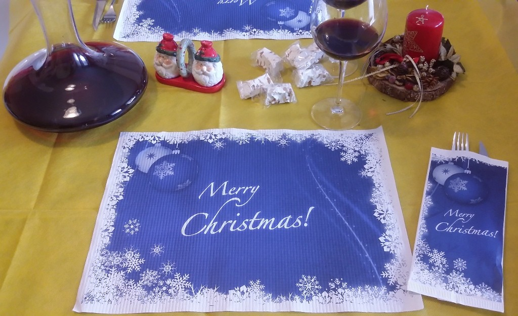Tovaglietta Natale e portaposate 30 x 40