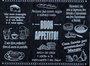 Veneziana nera 30×40 BUON APPETITO