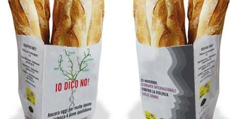 sacchetto pane amnesty international campagna contro la violenza sulle donne