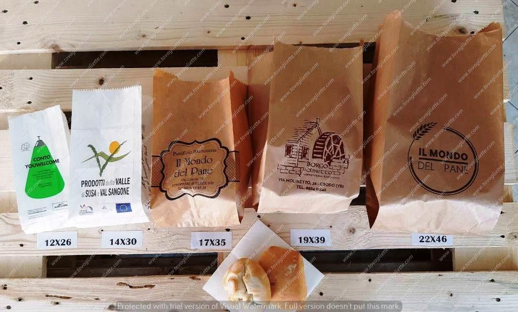 Immagine sacchetti del pane di varie misure e dimensioni.