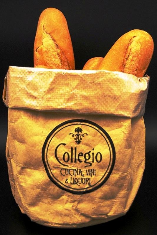 busta porta pane come cestino