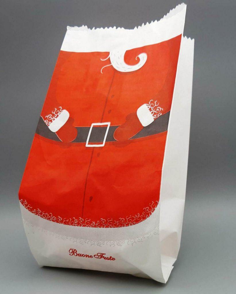 busta pane con disegno babbo Natale