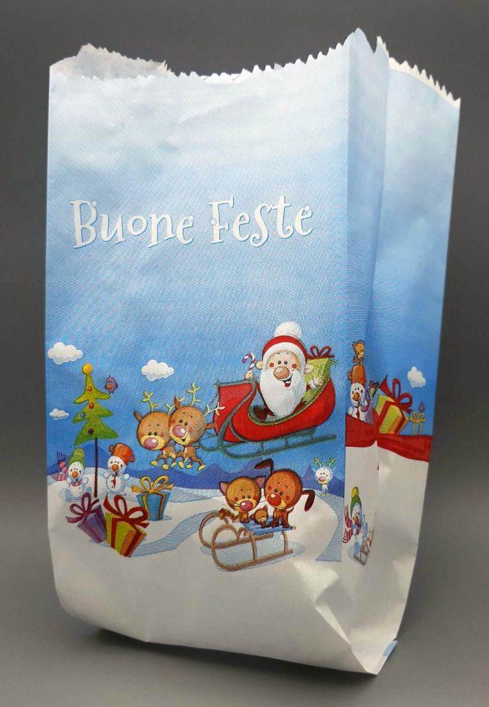 sacchetto pane Buone Feste di Natale